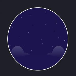 圆形卡通图像UI设计与下载纯CSS3样式绘制卡通夜间圆形图像样式代码