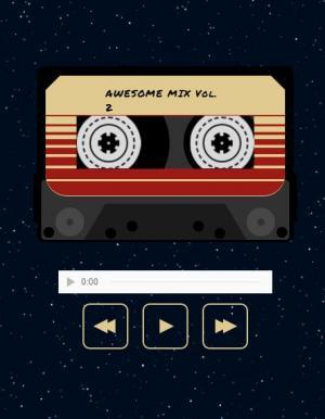 网站素材网页音乐播放器录音带UI样式设计效果HTML音乐素材网站播放器代码