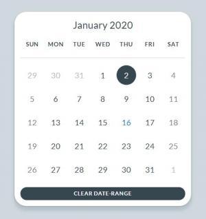 JavaScript素材设计网站HTML布局制作大气圆角日期表网站日历表UI样式设计效果