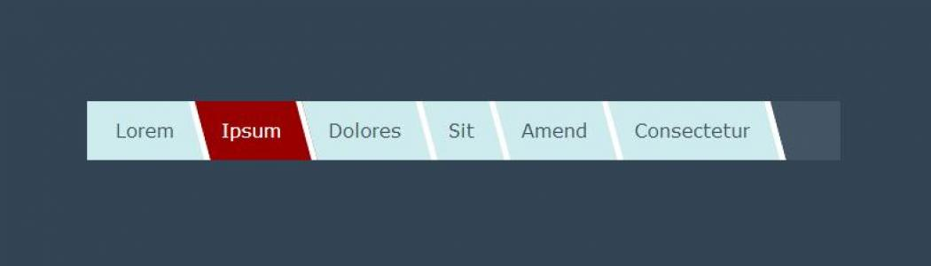 HTML标签布局代码和纯CSS制作网站首页创意导航条网站导航栏样式设计大全