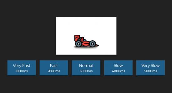 jQuery与CSS3设计制作卡通汽车图像效果鼠标点击按钮卡通汽车行驶切换代码