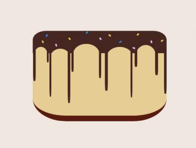 纯CSS选择器样式表设计制作卡通蛋糕图像效果网页卡通素材设计大全