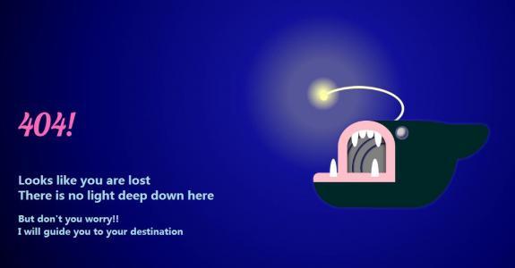 网站404静态页面设计与制作HTML标签网页样式表制作鲸鱼图像404静态页面