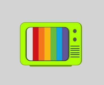 HTML网页素材UI网站设计大全纯CSS3制作卡通黑白电视机图像样式代码