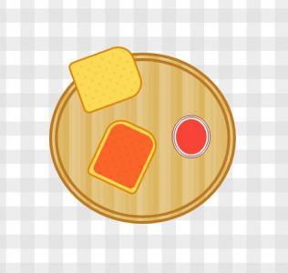 素材网站图像制作代码HTML与网页样式表CSS制作丰盛早餐图像