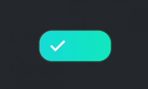 网页按钮样式设计代码CSS3制作带渐变背景效果的CheckBox滑块按钮