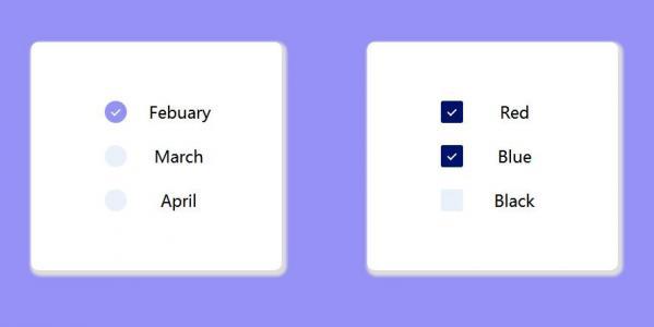 网站素材布局代码HTML设计带CheckBox复选框列表样式效果