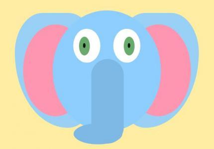 创意头像卡通图像制作大全HTML标签样式绘制卡通大象头像图像