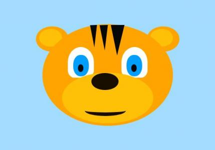 纯CSS3卡通图像属性代码绘制可爱猫科动物老虎卡通头像图像