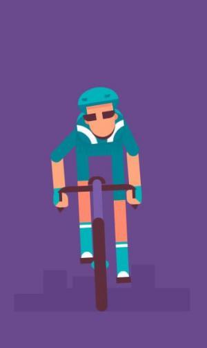 卡通动画素材制作网站代码CSS3动画属性绘制运动员骑自行车图像动画效果