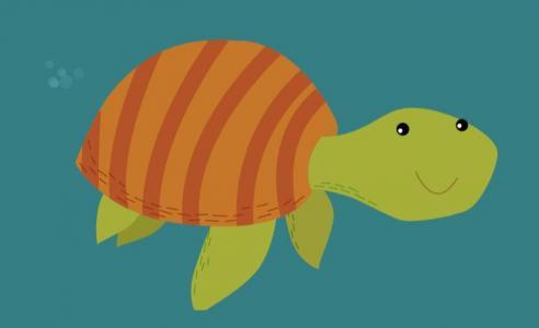 卡通动画图像设计代码JS与CSS3绘制可爱小乌龟水里游行动画效果