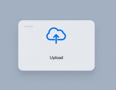 HTML标签代码与CSS3设计制作带进度条加载动画效果的上传卡片按钮