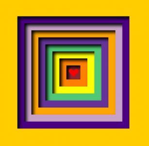 jQuery特效网页代码绘制带3D视觉效果的色彩正方形图像HTML网页素材免费下载