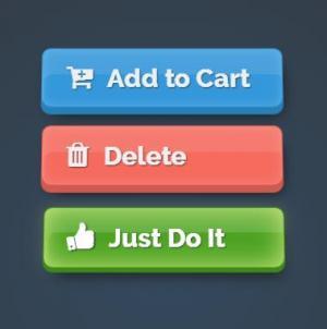 网站按钮样式设计HTML标签代码与CSS3绘制大气3D立体按钮鼠标按下按钮状态切换效果
