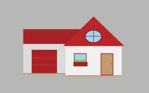 网页卡通建筑图像免费下载纯CSS3样式绘制简单卡通房子建筑图像样式效果