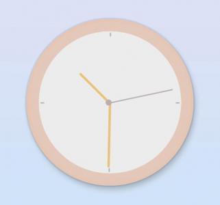 CSS3圆角属性样式和JS网页时钟代码绘制创意大气圆形时钟样式效果