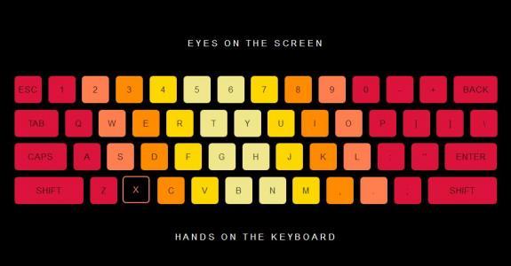 网站键盘设计大全网页特效CSS3与JS绘制创意彩色键盘样式效果HTML网页素材下载