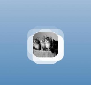 创意网站loading图像设计代码纯CSS选择器制作圆角猫儿动态渐变加载效果