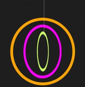 前端开发素材网站HTML代码制作彩色环形吊坠图像旋转动画效果