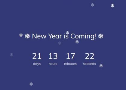 数字时钟设计与制作JS代码绘制带雪花背景动画效果的网页数字时钟