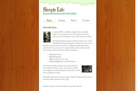 HTML制作超简洁的个人网站模板个人博客模板免费下载