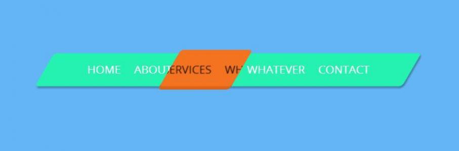 创意大气网站导航UI设计代码CSS样式表制作3D导航鼠标滑过背景滑动切换效果