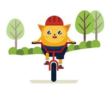 HTML动画素材设计网站大全CSS3绘制卡通人物骑自行车动画图像效果