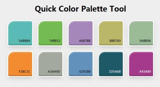 特效素材网站制作大全CSS3样式与JS绘制大气创意调色面板样式效果