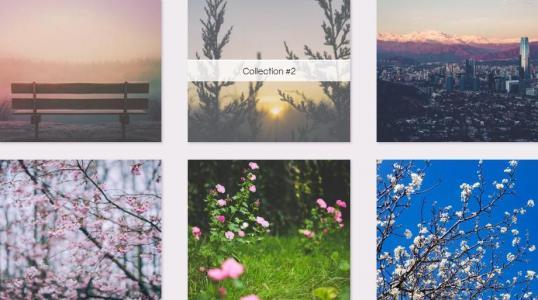 网页图片布局设计代码鼠标滑过图片透明遮罩滑动展示效果