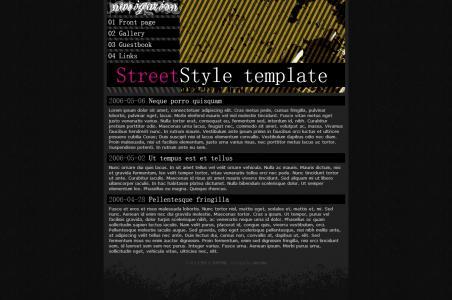 黑色风格个性非主流的网页静态页面设计网站模板免费下载