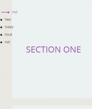 HTML网页设计与制作jQuery特效代码实现鼠标点击侧边栏按钮页面上下滑动切换