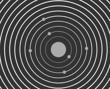 JS特效网页代码模拟行星轨迹旋转动画效果鼠标点击按钮背景色动态切换代码