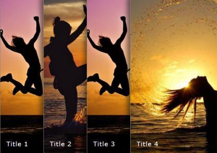 网页图片特效代码CSS3制作图像手风琴鼠标滑过图片滑动展示效果