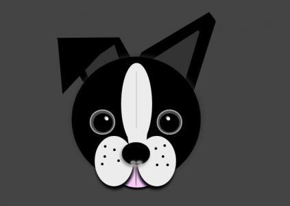 卡通动物头像UI设计大全HTML标签样式表绘制卡通狗狗头像样式效果