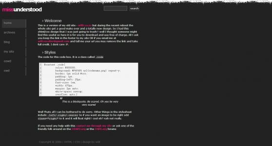 左侧导航菜单栏个人网站模板网页静态页面设计与制作