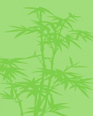 网页背景图像制作代码HTML标签样式绘制卡通竹林背景图像