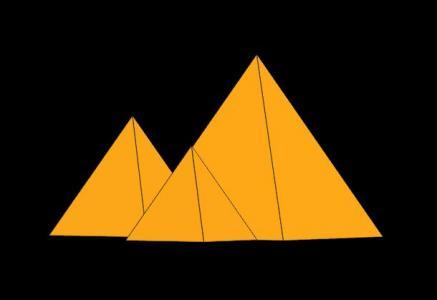 3D素材网站网页代码CSS3样式制作金字塔图像旋转展示动画效果