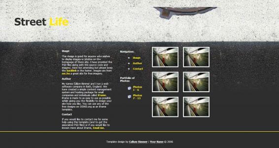 简单大气的黑色古典风格中小型企业公司英文网站模板