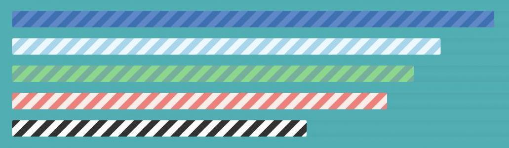 免费进度条下载网站纯CSS3绘制带动态背景效果的纹理彩色进度条