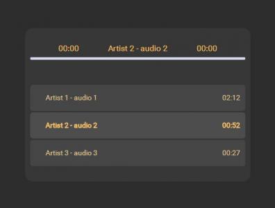 网页UI设计代码HTML制作创意大气音乐播放器列表CSS3网站播放器素材大全