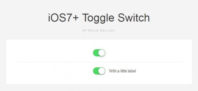 纯CSS3属性样式代码模拟IOS滑块开关按钮鼠标点击按钮滑动切换效果