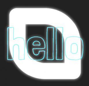 HTML5设计素材JS特效下载网站代码绘制创意英文单词边框颜色动态切换效果