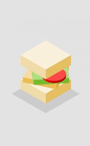 卡通图像动画设计与制作canvas代码绘制3D三明治面包图像动画效果