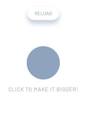 JS特效网站代码设计制作放大镜手势图标点击页面圆形背景放大效果