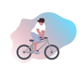 创意卡通动画制作与下载纯CSS3标签属性设计制作骑手骑行自行车动画效果
