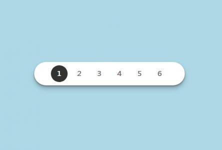 创意导航设计网站代码JS与CSS3制作圆角数字导航样式效果网站导航素材下载