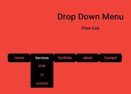 网页素材免费下载网站大全纯CSS标签属性设计制作大气二级下拉菜单导航条