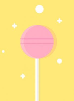 卡通UI图形图像绘制效果HTML标签样式CSS代码设计制作带阴影效果的卡通棒棒糖