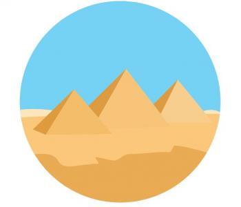 圆形卡通图像大全设计素材网站CSS代码绘制卡通圆形金字塔图像样式代码