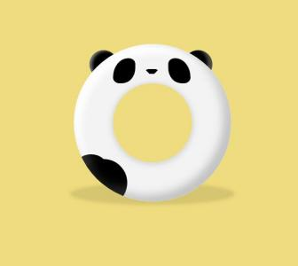 3D素材网站大全HTML标签制作代码与CSS选择器设计3D环形熊猫图像样式效果